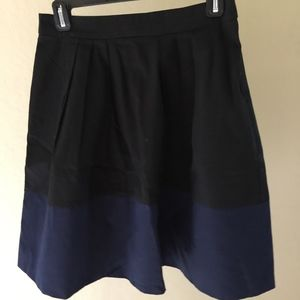 ASOS Black and Navy Two Tone Skirt, Sz 6